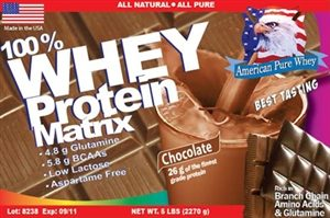 APW Chocolate Whey Protein Matrix 5lbs