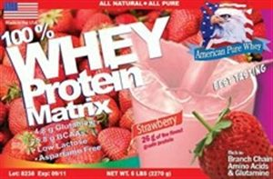 APW Strawberry Whey Protein Matrix 5lb