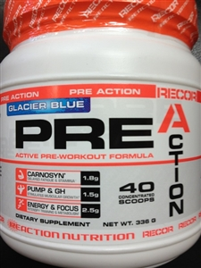 Action Pre-workout Glacer Blue