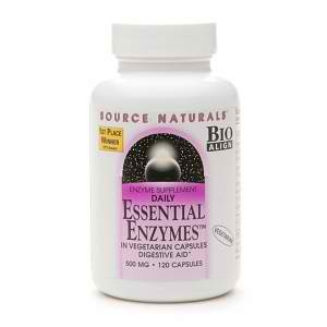 Source Natures Essential Enzymes 120 Caps