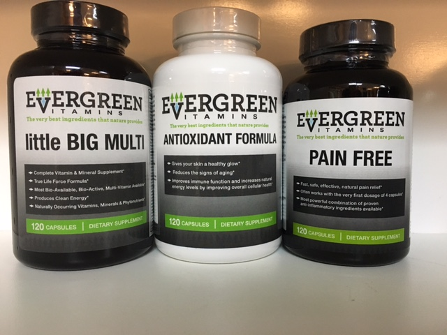 EverGreen Anti Aging Kit (3 bottles-Little Big Multi, Antioxidant, Pain Free)